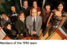 Members of the TFRI team