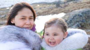 Inuit mother and daughter