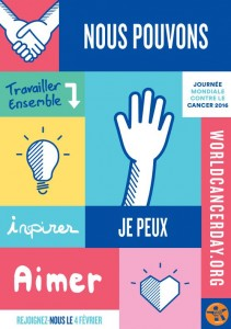 World Cancer Day Sign (Fr)