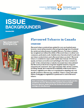 Flavoured tobacco in Canada backgrounder - thumbnail image