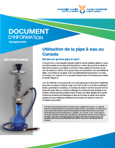 Utilisation de la pipe à eau au Canada document d'information